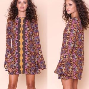 NWT Free People Ossie Vibes Printed Tunic